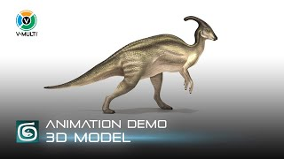 Parasaurolophus Walking Cycle Animation