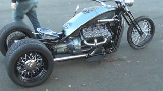 getlinkyoutube.com-V8 Ford Flathead trike