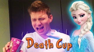 getlinkyoutube.com-DEATH CUP CHALLENGE ft. Elsa's Frozen Cup