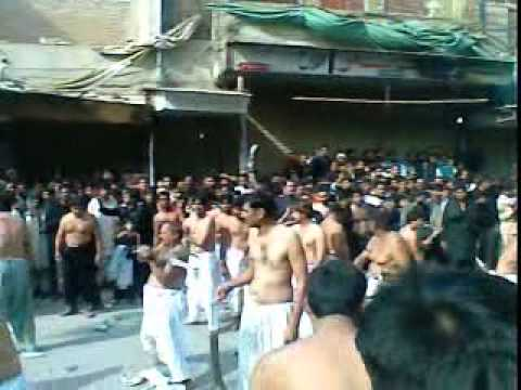 10 Muharram 1433 Hijri (2011) Zanjeer Matam at Chowk Bazar Multan Part-1