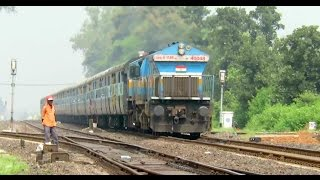 getlinkyoutube.com-UNBEATABLE EMD BLAST : Singrauli Jabalpur Intercity with ET WDP4B Ripped Gosalpur : INDIAN RAILWAYS
