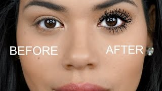 getlinkyoutube.com-How To Make Your Lashes look longer and Fuller! | Tips and Tricks