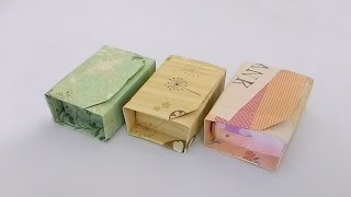 Origami box with lid/ พับกระดาษ (15x15cm) :พับกล่องของขวัญมีฝาปิด