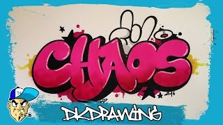 getlinkyoutube.com-Graffiti Tutorial - How to draw chaos graffiti bubble style letters