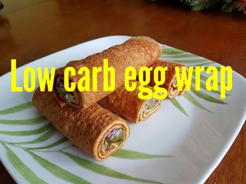 Low carbs high protein egg wraps recipe