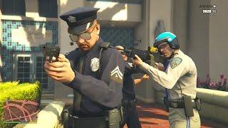 getlinkyoutube.com-GTA 5 Michael and Trevor's Los Santos Police Patrol/Five Star Escape