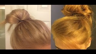 How I Toned my orange hair using Wella toner T28