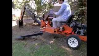 getlinkyoutube.com-Harbor Freight Trencher converted to Electric Backhoe with EzPowerPlant
