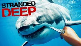 getlinkyoutube.com-POR LOS PELOS!! QUE ASCO DE TIBURÓN! Stranded Deep #5