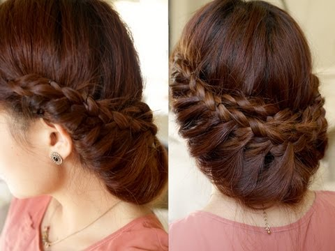 Princess Braided Updo Hair Tutorial