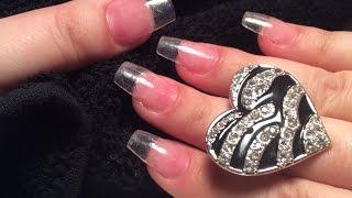 getlinkyoutube.com-How to Do Clear Acrylic Nails at Home