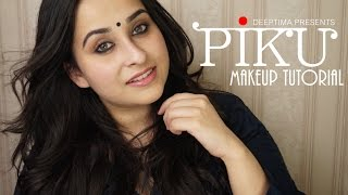 getlinkyoutube.com-Piku inspired Everyday Indian makeup ~ Kohl rimmed eyes and Neutral Lips