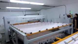 getlinkyoutube.com-FELIS - Single Needle Frame Type Moving Sewing Head Quilting Machine - Duvet - Blanket - Comforter