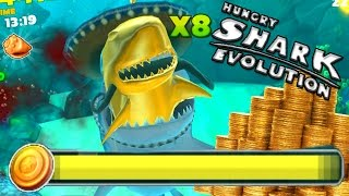 Hungry Shark Evolution | NEW RECORD?! CRAZY FAST GOLD GRAB! | Hungry Shark Evolution Gameplay