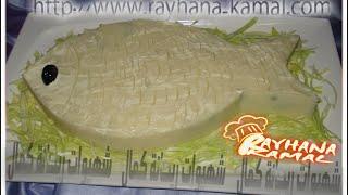 getlinkyoutube.com-شهيوات ريحانة كمال سلطة البطاطس على شكل سمكة