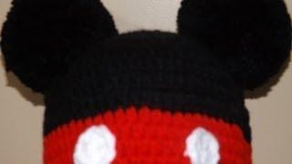 getlinkyoutube.com-Crochet Gorrito Mikey Mouse