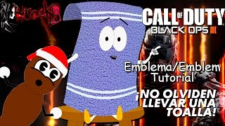 getlinkyoutube.com-Black Ops 3 | Toallin + Sr mojon/Towelie & Mr. Hankey  | EMBLEM/Emblema Tutorial | South Park