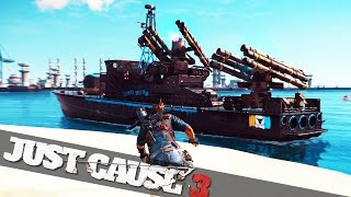 getlinkyoutube.com-STRONGEST SHIP EVER MADE :: Just Cause 3 Funny Epic Moments!