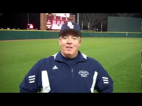 FAU head coach John McCormack after game one of the 2012 baseball season
