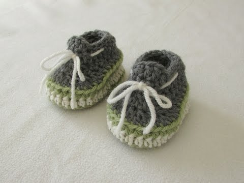 How to crochet baby sneakers / booties / shoes