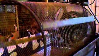 getlinkyoutube.com-Trommelsieb Rollsieb Eigenbau Homemade Screener Teil 2