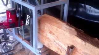 getlinkyoutube.com-Mini pilana chainsaw mill