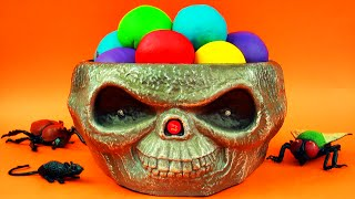 getlinkyoutube.com-Halloween Candy Ice Cream Play-Doh Surprise Eggs Angry Birds Thomas Tank Transformers Toys FluffyJet