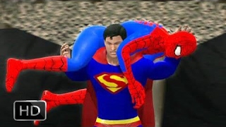 WWE 2K15 Superman vs the amazing Spiderman (Extrem Match)