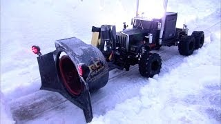 getlinkyoutube.com-RC ADVENTURES - Rotary Snow Plow / Snow Mover (Test 1 - Night Time)