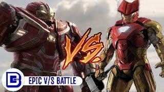 Hulkbuster Vs Thorbuster | Superhero Showdown In Hindi | BlueIceBear