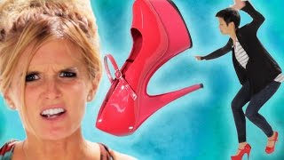 getlinkyoutube.com-Women Wear Stilettos For The First Time
