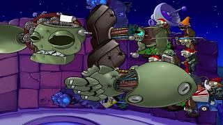 getlinkyoutube.com-PLANTS VS ZOMBIES 100% SURVIVAL ROOF NIGHT ENDLESS  MOD CHRISTMAS