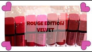 getlinkyoutube.com-Bourjois - Rouge Edition Velvet - 8 lip swatches