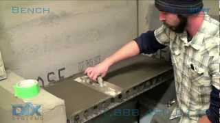 getlinkyoutube.com-Tile Shower Bench Installation - How To Install Dix Systems Shower Bench