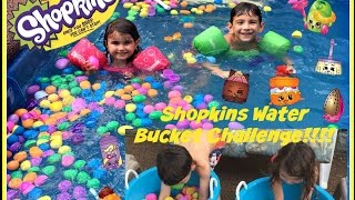 getlinkyoutube.com-Shopkins Water Bucket Challenge!!!! Filled with Surprise Eggs! Cheese Louise, Sweeps & More!