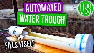 getlinkyoutube.com-DIY Automated Chicken Water Trough