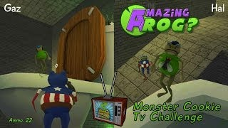 getlinkyoutube.com-Amazing Frog : Monster Cookie Easter Egg