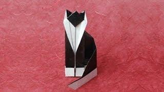getlinkyoutube.com-Origami Cat Instructions: www.Origami-Fun.com