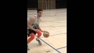 Single Hand Pound and Protect Dribble (Movement)