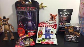 getlinkyoutube.com-Five Nights at Freddy's Bonnie Funko action figure, Mystery Mini, 8-bit, cards, Mymoji Toys
