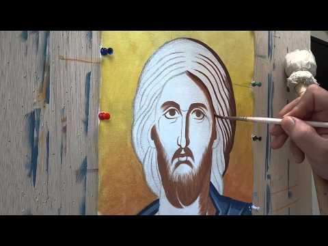 Μαθήματα αγιογραφίας  το κεφάλι 1, γραψίματα και προπλασμοί