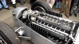 getlinkyoutube.com-Definitive Auto Union V16 C Type engine warm up - Goodwood Revival 2012 - Silver Arrows