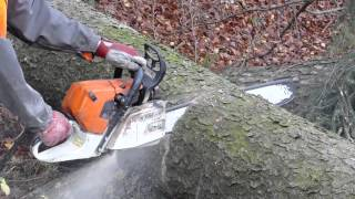 getlinkyoutube.com-STIHL 441c Slow Motion - Zeitlupe