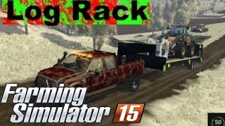 getlinkyoutube.com-Farming simulator 2015 Log rack test!!