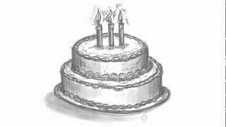 getlinkyoutube.com-How to Draw a Birthday Cake - Make Your own Birthday Card