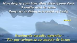 getlinkyoutube.com-How Deep Is Your Love Letra y Traducido Bee Gees HD