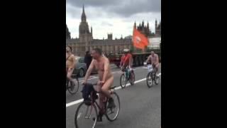 getlinkyoutube.com-The naked bike ride London 2015