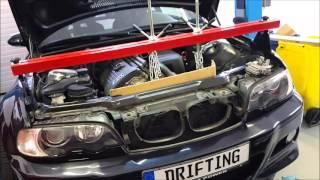 getlinkyoutube.com-BMW E46 M3 - Clutch and Flywheel installation.