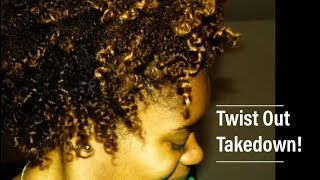 getlinkyoutube.com-Two Strand Twist Out-Take Down On Natural Hair!!