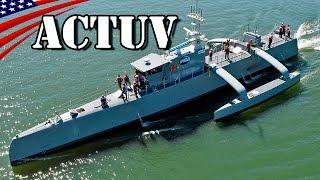 getlinkyoutube.com-Anti-Submarine Warfare Continuous Trail Unmanned Vessel (ACTUV) Sea Hunter - US Navy New Type Vessel